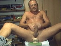 HARRI LEHTINEN WANKING HIS COCK WITH A HUGE TOY DEEP IN HIS MAN-PUSSY!
