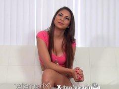 CastingCouch-X - Sexy latina Nina North takes huge facial
