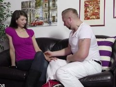 German Brother Help Step-Sister with Fuck