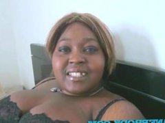 Treena from 1fuckdate.com - Fatou bbw black en mini gang bang