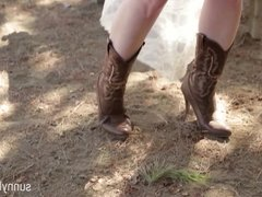 Sexy Sunny Lane Cowgirl Tease