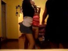 Three hot girls shake ass. Tasha LIVE on 1fuckdate.com