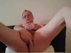 My afternoon jerk off, tasting my own cum a little