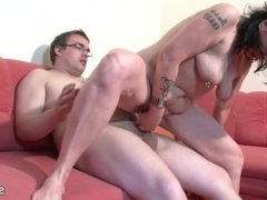 German Mother From SEXDATEMILF.COM Helps Her Ugly Step-Son with First Fuck