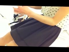 japanese shop girl upskirt green