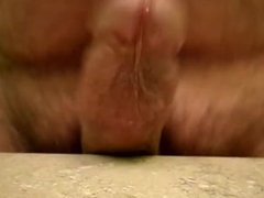 Dick slide on countertop pre cum