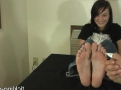 Bare Feet Tickled