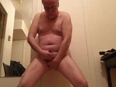 See me jerk off my oily cock and unload my cum