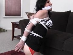 Neighbour Lady Tied and Gagged