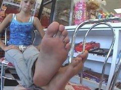 TheFeetHunter Teen Gas Station Feet