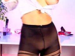 Jennifer Jade No Panties, Pantyhose
