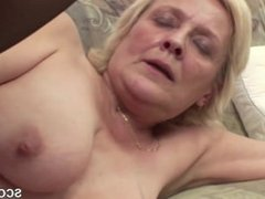 Grandson Seduce Blonde Granny From SEXDATEMILF.COM to Fuck and Cum