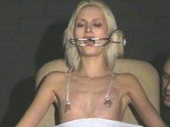 Cruel amateur bdsm and needle tit torture of tied blonde slaveslut in hard