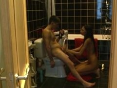 fuck in the bathroom with tall teen