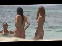 Hot teens fully naked on the beach