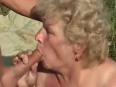 GRANNY WITH BIG BOOBS From SEEKBBW.NET FUCK OUTDOOR WTH A GRANNY LOVER