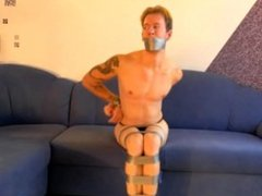 WSBP - Male is bound and gagged with Tape!