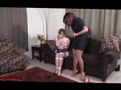 Kidnapped Stewardess Tied up