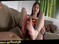 Nickey Supergirl footjob