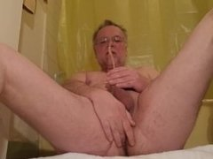 Pissing on myself and playing with my asshole a little before shower