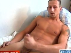 My str8 neighbour made a porn: watch his huge cock gets wanked!