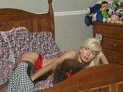 Lea Martini Solo in red lingerie