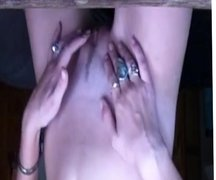 Horny blonde gets naked and plays with her feet