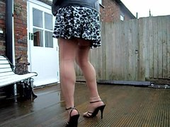 windy and wet in the garden in more ways than one x
