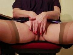 Stephanie Pearle - Pussy Worship - Female Domination Boss Fantasy Stockings