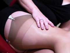 Stephanie Pearle - Pantyhose Leg Worship - Female Domination Boss Fantasy