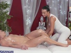 Massage Rooms Teen lesbian loves MILF pussy