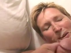 Bbc and amp bwc give blonde milf a double fac