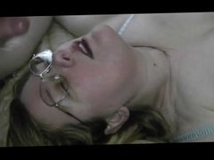Sticky facial cumshot. Coleen from 1fuckdate.com
