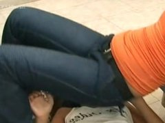 Lesbian Jeans Facesitting