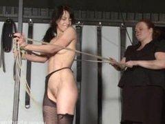Rough lesbian domination of slaveslut Elise Graves in hardcore bdsm punish