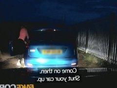 Fake Cop - Uniformed policeman fucks cock hungry sluts