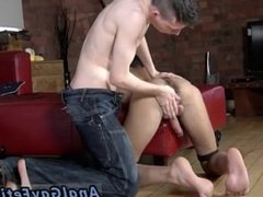 Gay cock Oli is about to be used as a plumb fucktoy as Matt strokes his
