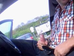 Str8 men jerk off in the car