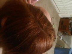 Pov getting sucked off by redhead