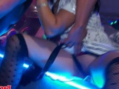 Eurosex partybabe doggystyle fucked after bj