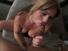 Cougar sucking my cock