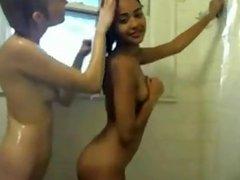 Amateur teen lesbian shower