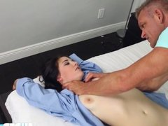 Brunette Jenna gets fucked by step dad