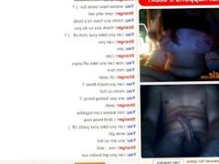 Omegle  Horny girl shows and plays on omegle