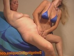 BI swingers and her FIRST Milf PUSSY