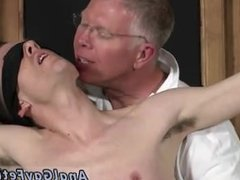 Male gay porn white uncut cock With his delicate nutsack tugged and his