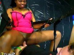 Ebony ho bukkake dripping