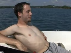 Getaway twinks sucking dick in the yacht