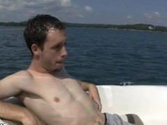 Getaway twinks sucking dick deep throat in the yacht