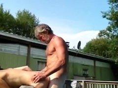Pool side fuck